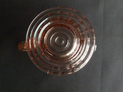 Jeanette Glass Swirl Pink Footed Creamer