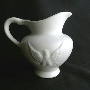 Cream Colored Hull Eagle Pitcher