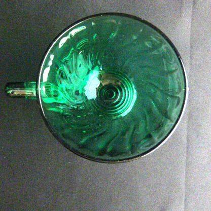 Jeanette Swirl-Ultramarine Blue Green Footed Cup