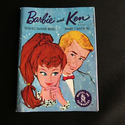 Barbie and Ken Mini Fashion Booklet Circa 1960's