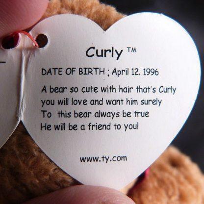 Rare Retired Curly Ty Beanie Baby