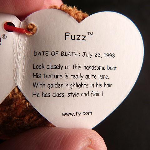Retired Fuzz Ty Beanie Baby