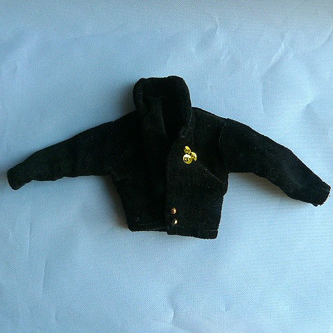 Vintage Barbie Homemade 3 piece Black Velveteen Party Outfit