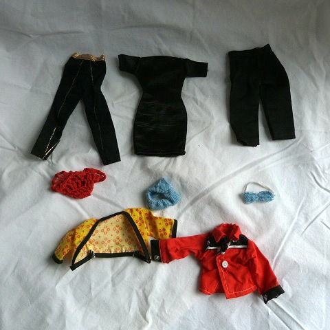 1960's Barbie Doll Homemade Clothing 8 Piece Lot