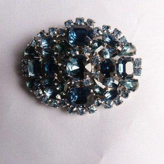 Blue Rhinestone Pin