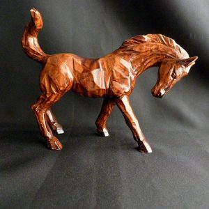 Enesco Brown Ceramic Wood Look Horse