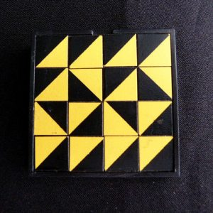 Geometric Design Plastic Pin
