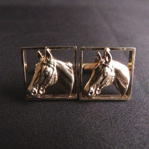 Hickok Horse Head Cufflinks