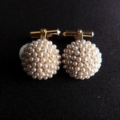 Christian Dior Pearl Cufflinks