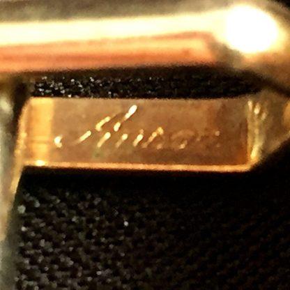 Vintage Scroll Etching Gold Tone Cufflinks
