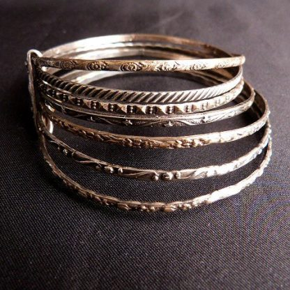 Vintage 1960's 7 Bangle Bracelet Set