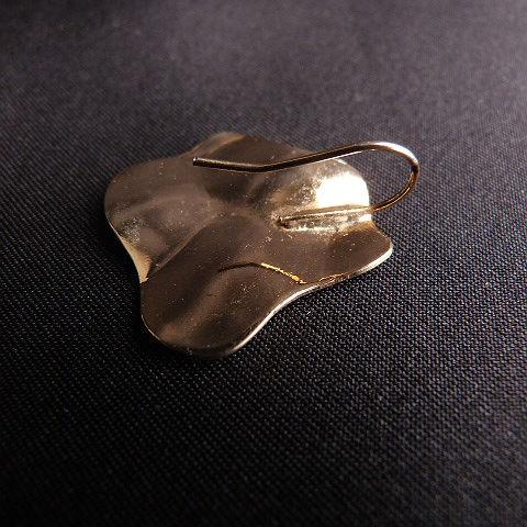 Vintage Goldtone Freeform French Hook Earrings