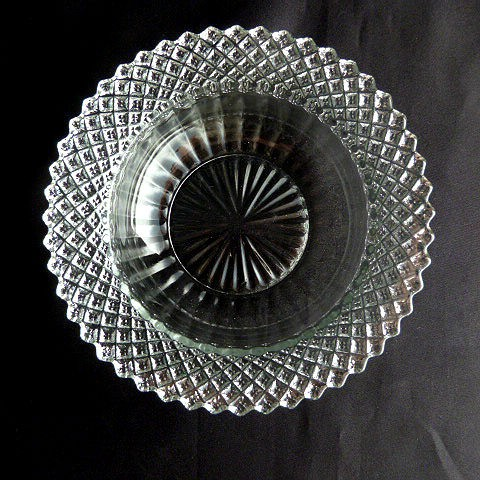 Miss America Clear Glass Cereal Bowl by Anchor Hocking