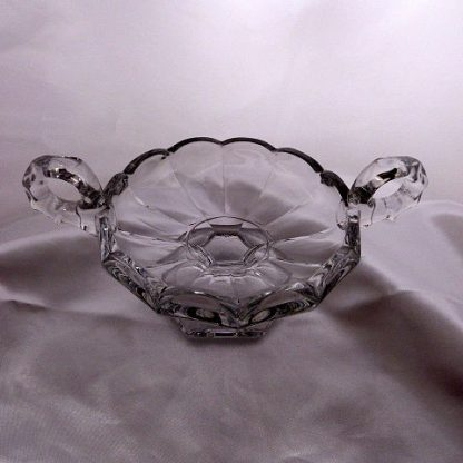 Heisey Crystolite Open Handled Candy Dish
