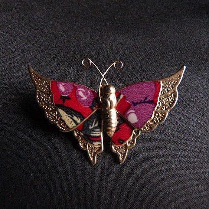 Vintage Enamel Butterfly Pin