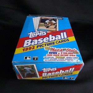 1992 Topps Major League Baseball Picture Trading Cards