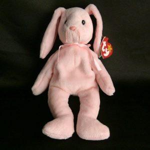 Hoppity Pink Rare Retired Ty Beanie Baby
