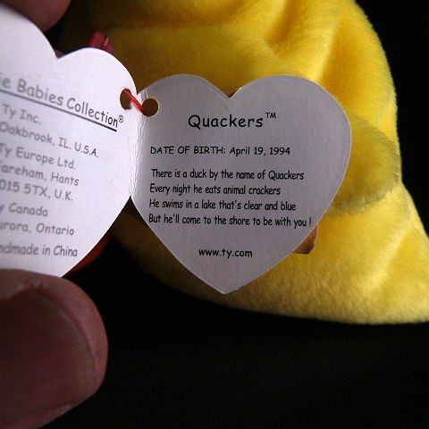 Quackers Rare Retired Ty Beanie Baby