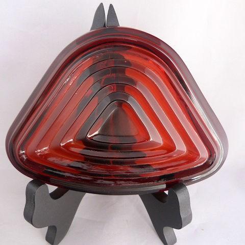 Triangular Relish Tray insert Manhattan-Royal Ruby Anchor Hocking