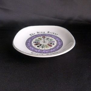 "Vintage Trinket/Souvenir China Dish ""King Arthur's Round Table"""