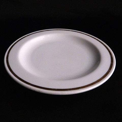 Bread and Butter plate gold trimmed by Bryan China
