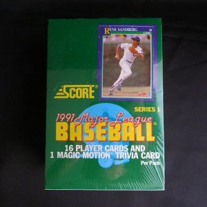 1991 Score, Series 1, Major League Baseball Trading Cards