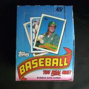 1989 Topps Baseball Bubble Gum Trading Cards