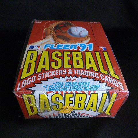 Fleer'91 Baseball Logo Stickers & Trading Cards