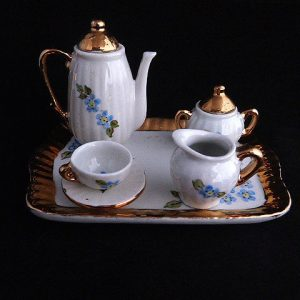 Vintage Tinkey Porcelain Miniature Tea Set