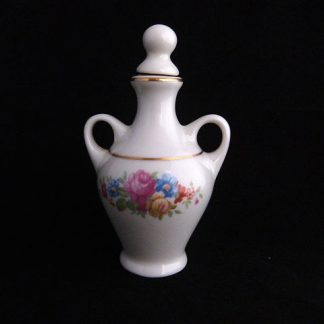 Vintage Miniature Porcelain Perfume Bottle with Stopper by Pickard China USA