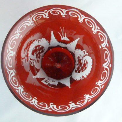 Czech Republic Red Flash Bohemian Vase