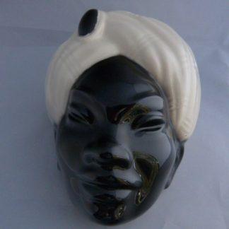 "Rare Royal Windsor Black Faced ""Island Man"" Wall Pocket"