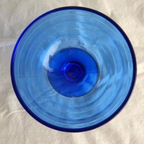 Hazel Atlas Champagne/Sherbet Bowl Cobalt