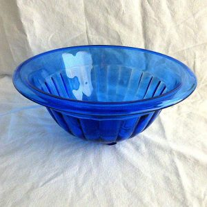 Hazel Atlas Cobalt Moderntone Mixing/Serving Bowl