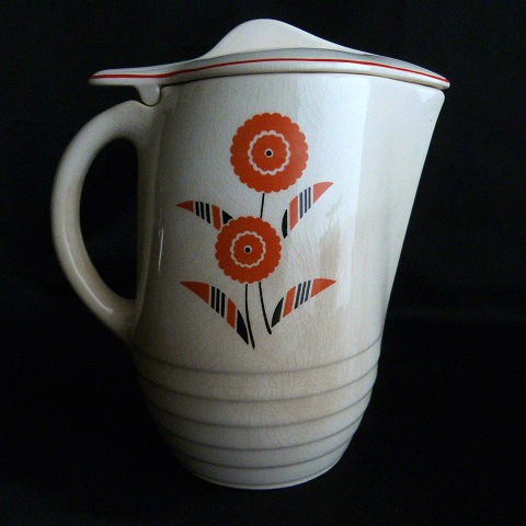 Tip Top Refrigerator Jug with Lid by Universal Potteries