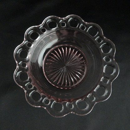 Old Colony Pink Dessert Bowl by Hocking Glass Company