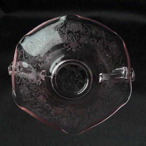 Pink Glass Cream Soup Bowl by Hazel Atlas Company