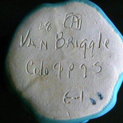 Van Briggle Vase Blue - Green Butterfly