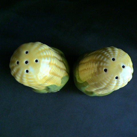 Large Corn King Salt and Pepper Shakers