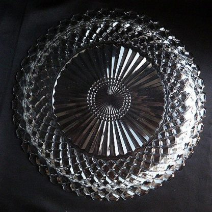Waterford Waffle Clear Serving Platter by Anchor Hocking