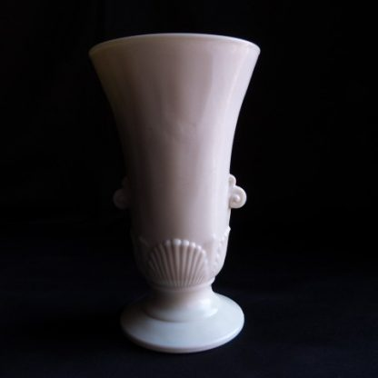 Milk Glass Shell Vase by Fire King