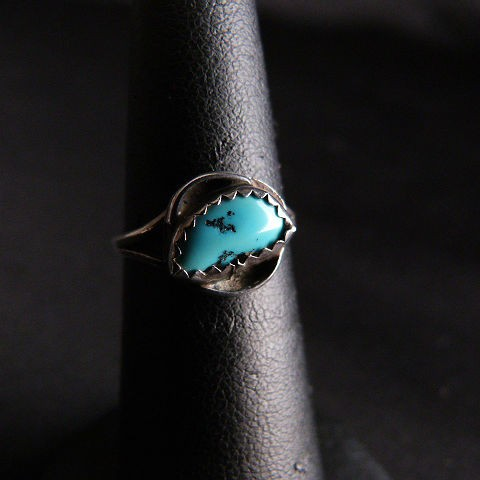 Turquoise Silver Native American Small Ring