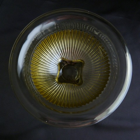 Federal Glass Golden Glow Ribbed Nesting Bowl