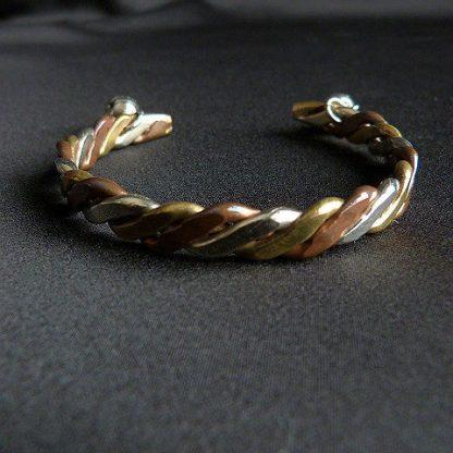 Cuff Multi-Metal Braided Bracelet