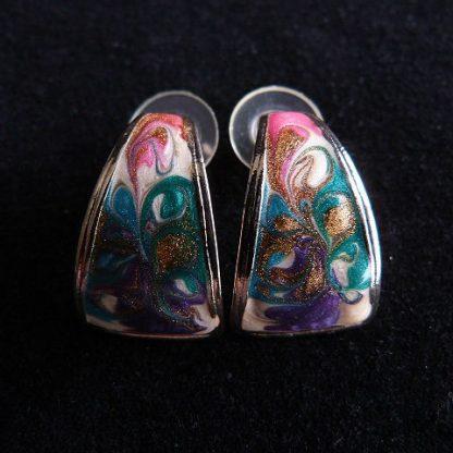 Hand Painted Multi-Colored Enamel Pierced