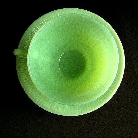 Fire King Jadeite Jane Ray Oven Ware Cup and Saucer