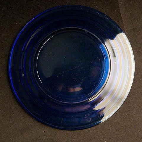 Cobalt Blue Sherbet Under Plate