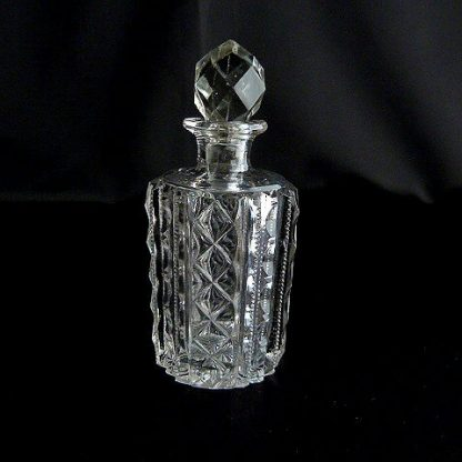 Cut Glass Perfume Bottle