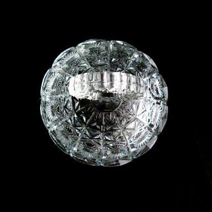 Vintage Clear Cut Glass Vanity Jar