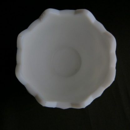 Old Quilt Milk Glass Open Bowl
